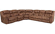 Homestretch Frontier Coffee 3-Piece Reclining Sectional