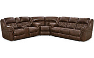Homestretch Frontier Chocolate 3-Piece Reclining Sectional