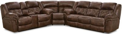 Homestretch Frontier Chocolate 3-Piece Pwr Reclining Sectional