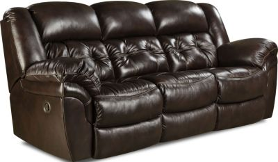 Homestretch Cheyenne Espresso Leather Power Reclining Sofa