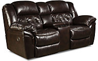 Homestretch Cheyenne Espresso Leather Reclining Loveseat