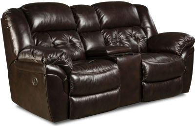 Homestretch Cheyenne Espresso Leather Power Reclining Loveseat