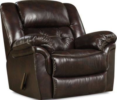 Homestretch Cheyenne Espresso Leather Rocker Recliner