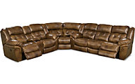 Homestretch Cheyenne 3-Piece Leather Power Reclining Sectional