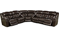 Homestretch Cheyenne 3-Piece Espresso Leather Power Sectional