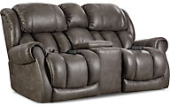 Homestretch Atlantis Loveseat with Power Headrest & Lumbar
