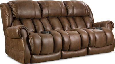 Homestretch Atlantis Sofa W/Pwr Hdrst & Lumbar