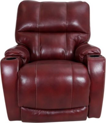 Homestretch Westin Red Leather Power Recliner