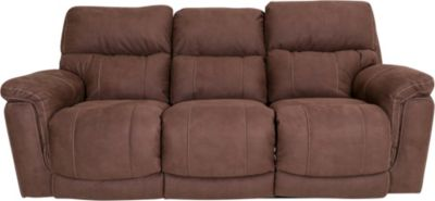 Homestretch Tucson Brown Power Recline Sofa