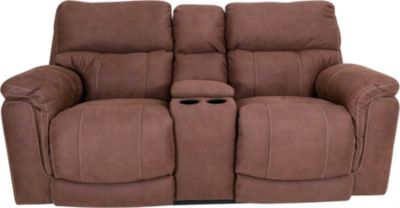 Homestretch Tucson Brown Power Recline Console Loveseat