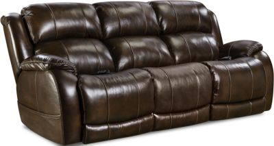 Homestretch Palmer Leather Power Recline Sofa