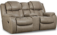 Homestretch Daytona Reclining Console Loveseat