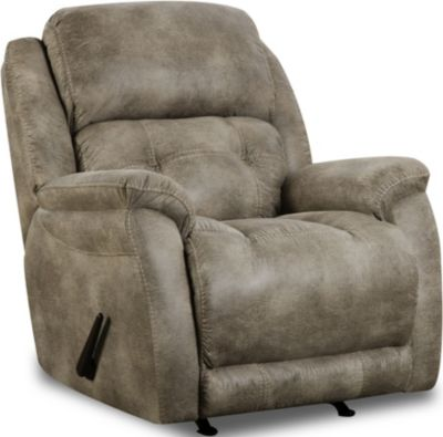 Homestretch Mclean Gray Rocker Recliner