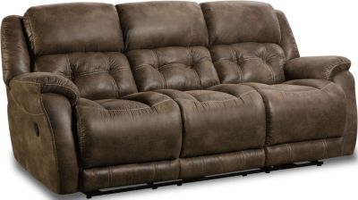 Homestretch Mclean Brown Reclining Sofa