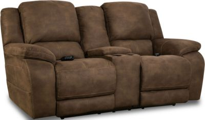 Homestretch Explorer Brown Power Headrest & Lumbar Loveseat