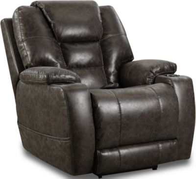 Homestretch Discovery Gray Power Headrest Lumbar Recliner