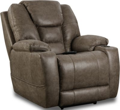 Homestretch Discovery Taupe Power Motion Recliner