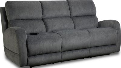 Homestretch Sterling Gray Power Headrest Lumbar Sofa