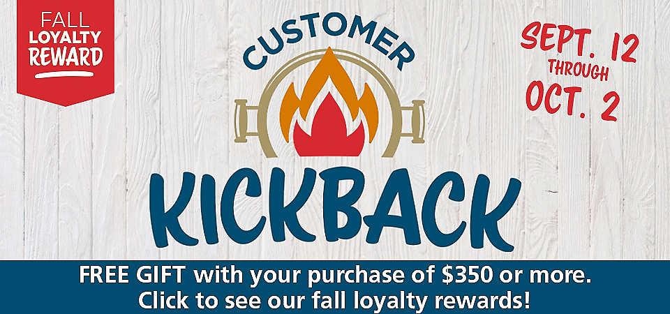 Customer Kickback Fall Loyalty Reward