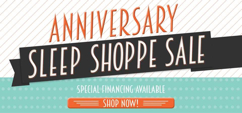 Anniversary Sleep Shop Sale