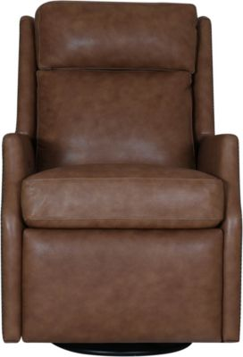 Huntington House Timeless 100% Leather Power Motion Swivel Glider