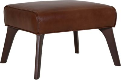 Huntington House Anastasia 100% Leather Ottoman
