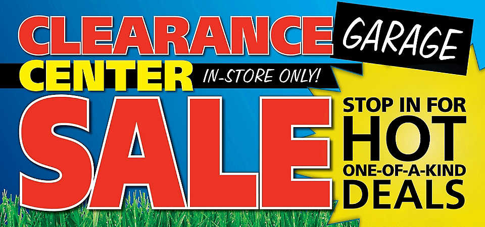 Homemakers Clearance Center Garage Sale - In-Store Only!