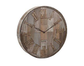 Imax Wine Barrel Wall Clock