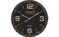Imax Black Wall Clock