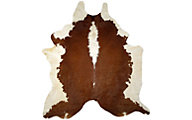Industrias Magromer Brown and White Cowhide Rug