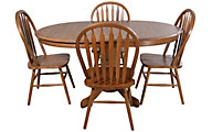 Intercon Classic Oak Laminate Table & 4 Chairs