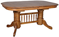 Intercon Classic Oak Laminate Trestle Table