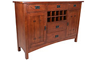 Intercon Oak Park Buffet with Wine Rack