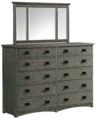Intercon Oak Park Dresser with Mirror