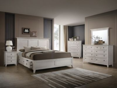 Intercon San Mateo 4-Piece White King Bedroom Set