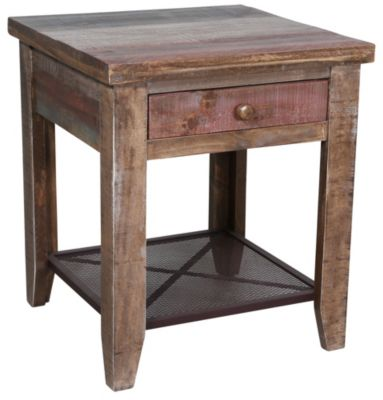 Int'l Furniture 968 Collection Solid Wood End Table
