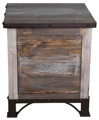 Int'l Furniture Antique Storage End Table