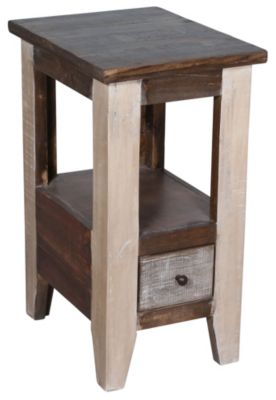 Int'l Furniture Antique Chairside Table