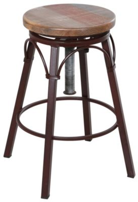 Int'l Furniture Antique Collection Adjustable Swivel Stool