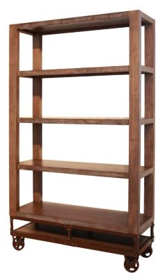 Int'l Furniture Urban Gold Etagere Bookcase