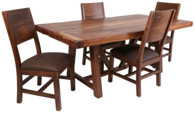 Int'l Furniture Parota Table & 4 Side Chairs