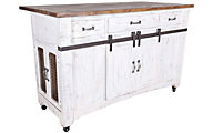 Int'l Furniture Pueblo Distressed White Island