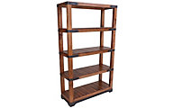 Int'l Furniture Parota Etagere Bookcase