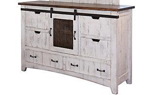 Int L Furniture Pueblo White Queen Bedroom Set
