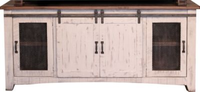 Int'l Furniture Pueblo 70 Inch Barn Door TV Stand