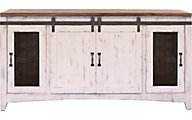 Int'l Furniture Pueblo 68-Inch White Barn Door TV Stand