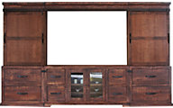Int'l Furniture Pueblo Barn Door Entertainment Center