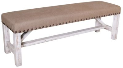 Int'l Furniture Terra White Bench