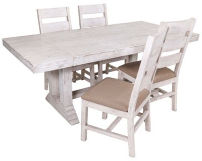 Int'l Furniture Terra White 5-Piece Dining Set