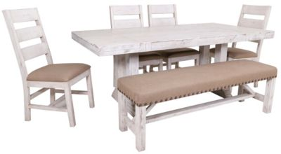 Int'l Furniture Terra White 6-Piece Dining Set